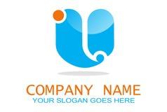 Letter U dolpin logo royalty free illustration