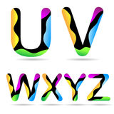 Letter U V W X Y Z Royalty Free Stock Photo