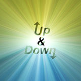 Letter Up & Down arrow flare Royalty Free Stock Photos