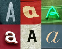 A letter - Urban collection. A letter - the Urban collection stock photography