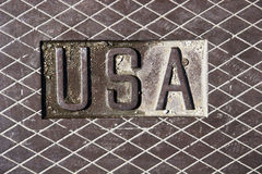 Letter USA in steel Stock Photo