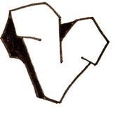 Letter v, Alphabet in graffiti style Royalty Free Stock Photo