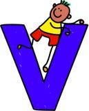 Letter V boy Royalty Free Stock Image