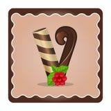 Letter v candies Stock Image