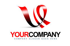 Letter V Logo. An illustration of a logo representing letter V and motion lines royalty free illustration