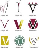 Letter V Logo. Alphabetical Logo Design Concepts. Letter V vector illustration