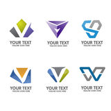 Letter V logo concept vector Royalty Free Stock Images