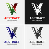 Letter V logo icon design template elements Royalty Free Stock Images