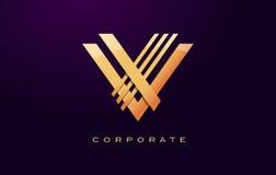 Letter V Logo. V Letter Design Vector Royalty Free Stock Images