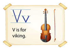 A letter V for viking Royalty Free Stock Image