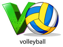 A letter V for volleyball Stock Images
