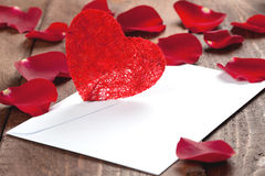 Letter for valentine Royalty Free Stock Photo