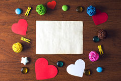 A letter on Valentine's day. Beautiful background for Valentine's day royalty free stock photo