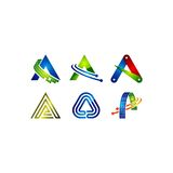 Letter A vector Stock Images