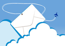 Letter. Vector illustration of a letter in clouds Royalty Free Stock Photo
