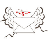 Letter. Vector illustration of a letter in clouds Royalty Free Stock Photography