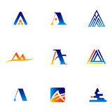 Letter A - vector logo concept illustration. Letter A with check logotype. Abstract logo. Vector logo template. Design element Stock Photo