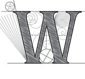 Letter W Royalty Free Stock Image