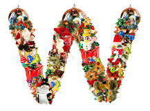 Letter W, for Christmas decoration Royalty Free Stock Images