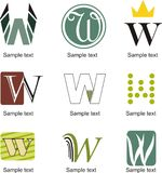 Letter W Logo Royalty Free Stock Image
