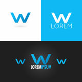 Letter W logo design icon set background Stock Image