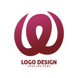 Letter w logo design. Letter red wild w logo design Royalty Free Stock Image