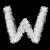 Letter W made of the clouds Stock Image