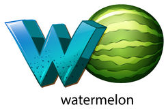 A letter W for watermelon Royalty Free Stock Photos