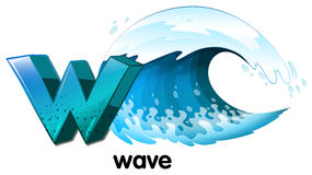 A letter W for wave Royalty Free Stock Photography