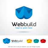 Letter W Web Build Logo Template Design Vector Royalty Free Stock Photo