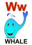 Letter W whale Royalty Free Stock Photography