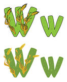 Letter W wheat Stock Photography