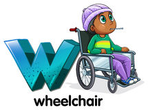 A letter W for wheelchair Royalty Free Stock Photo