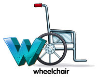 A letter W for wheelchair Stock Image