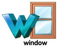 A letter W for window Stock Photos