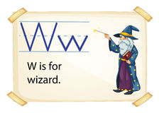 A letter W for wizard Stock Photo