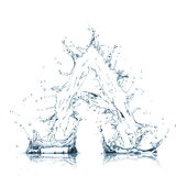 Letter of water alphabet Royalty Free Stock Photography