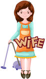 Letter of wife. Illustration of isolated letter of wife on white Royalty Free Stock Images