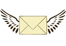 The letter with wings Stock Photo