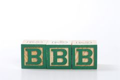 Letter wood blocks Royalty Free Stock Photo