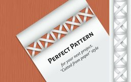 Letter on the wood table and pattern Royalty Free Stock Photo