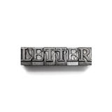 Letter word, letterpress Royalty Free Stock Photos