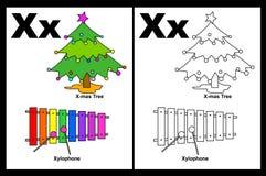 Letter X worksheet royalty free illustration