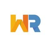 Letter WR logo. Flat color concept of letter WR logo vector illustration