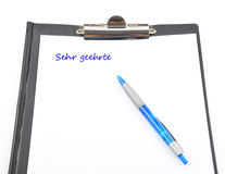 Letter writing Royalty Free Stock Images