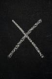 Letter X on black chalkboard Royalty Free Stock Photo