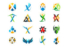 Letter x concept logo design Royalty Free Stock Photography