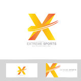 Letter X extreme logo Stock Images