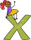 Letter X girl Stock Photo