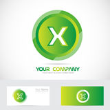 Letter x green circle logo Stock Image